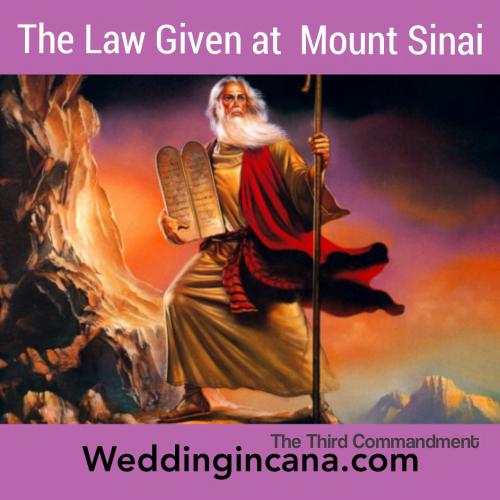 The third commandment of God